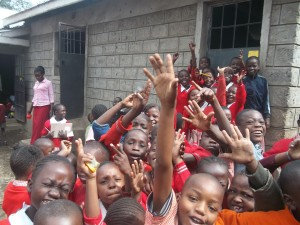 Kids at the centre happy to be in school